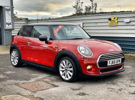2015/65 Mini Cooper 1.5 Automatic   finished in Blazing Red with Gloss Black.  54,099 miles