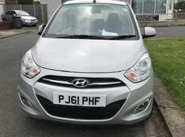 Hyundai i10, 2012 (61) Silver Hatchback, Automatic Petrol, 11,000 miles