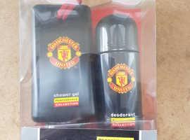 Man Utd Deodorant and Shower Gel gift pack.