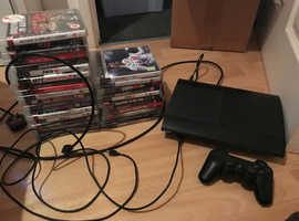 PS3 console,controller and 30 games all in perfect condition only £100 PERFECT GIFT