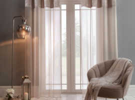 Sienna Crushed Velvet Voile Curtains