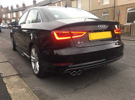 Audi A3, 2014 (14) Black Saloon, Manual Diesel, 78,000 miles