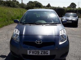 Toyota Yaris, 2009 (09) Blue Hatchback, Manual Petrol, 95,000 miles