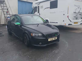 Volvo C30, 2008 (58) Black Hatchback, Manual Diesel, 121,000 miles
