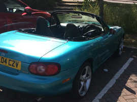 SWAP!! Mazda MX-5, 2004 (04) Green Convertible, Manual Petrol, 113,000 miles