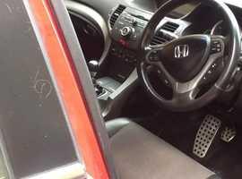 Honda Accord, 2009 (09) Red Saloon, Manual Diesel, 98,000 miles