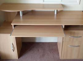 Ravenna Luxury Computer Desk. Beech effect