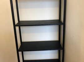 Black bookshelf - quality wood and metal frame
