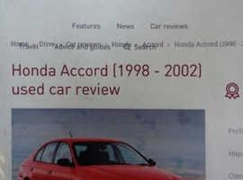 Honda Accord headlights 1998 to 2002 brand new