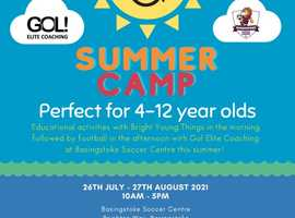 Football Fun and Learning at our Summer Camp