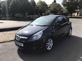 Vauxhall Corsa, 2007 (56) Black Hatchback, Manual Petrol, 53,500 miles LOW MILEAGE, 11 MONTHS MOT, 2 OWNERS