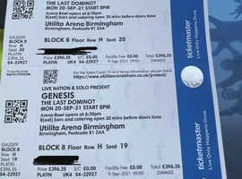 Genesis tickets x2