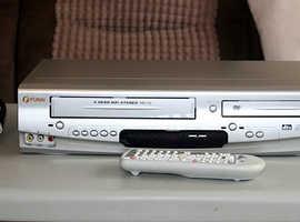 Funai DVD Player VHS Video Recorder VCR Combo