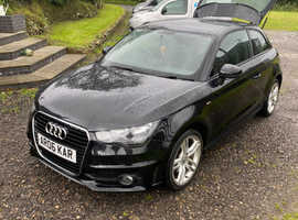 Audi A1, 2014 (14) Black Hatchback, Manual Diesel, 56,000 miles