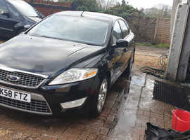 Ford Mondeo, 2008 (58) Black Hatchback, Automatic Diesel, 124,795 miles