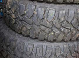 X4 265/75/16  roadcruza ra3200 tires on black modular steel wheels