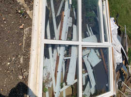 2 large windows used for a conservatory both fully glazed.