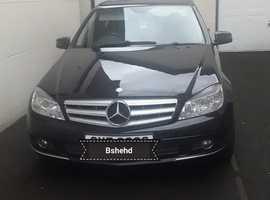 Mercedes C CLASS, 2009 (58) Black Saloon, Manual Diesel, 88,000 miles