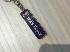 ROLLS ROYCE ORIGINAL GENUINE KEYRING BLUE ENAMEL ON BRASS.