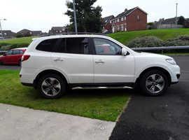 Hyundai Santa Fe, 2012 (61) White Estate, Automatic Diesel, 72,000 miles