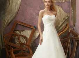 Mori lee wedding dress and veil
