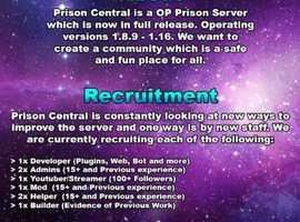 Prison Central Minecraft Server