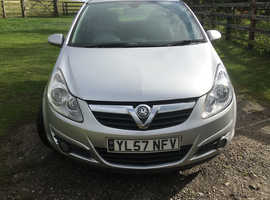 Vauxhall Corsa, 2008 (57) Silver Hatchback, Manual Petrol, 103,629 miles