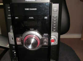 Panasonic SC-AK770 stereo, 5 disc changer, Usb play,  casssette player but NO speakers
