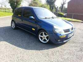 Renault Clio, sport 172 2003 (53) Blue Hatchback, Manual Petrol, 136,100 miles