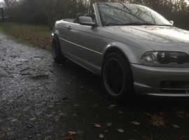 BMW 3 Series, 2002 (52) Silver Convertible, Manual Petrol, 115,000 miles