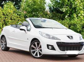 Peugeot 207, 2014 (14) White Convertible, Manual Diesel, 83,500 miles