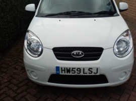 Kia Picanto, 2010 (59) White Hatchback, Manual Petrol, 45,600 miles