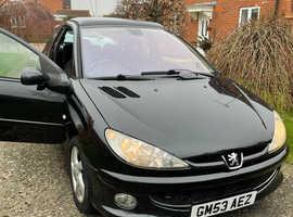 Peugeot 206, 2003 (53) Black Hatchback, Manual Petrol, 106,263 miles
