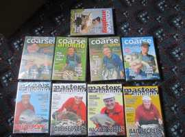9 x fishing dvds new and sealed