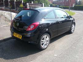 Vauxhall Corsa, 2007 (07) Black Hatchback, Manual Petrol, 117,864 miles