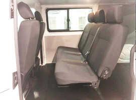 Transporter, second row of three seats.