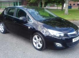 Vauxhall Astra, 2010 (10) Black Hatchback, Manual Petrol, 95,000 miles