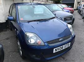 Ford Fiesta, 2008 (08) Blue Hatchback, Manual Petrol, 109,848 miles
