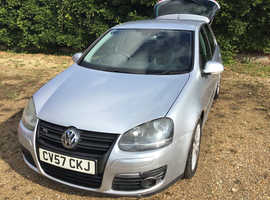 Volkswagen Golf, 2007 (57) Silver Hatchback, Manual Diesel, 138,529 miles