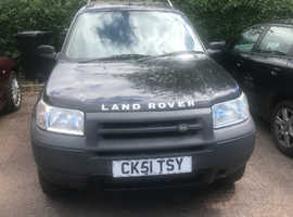 Land Rover Freelander, 2001 (51) Black Estate, Automatic Diesel, 101,000 miles