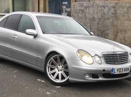 Mercedes E Class, 2003 (03) Silver Saloon, Automatic Diesel, 129,000 miles
