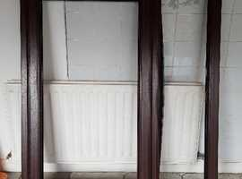 NEW** Mahogany PVCu Window frame with Gold handle and Clear Glass