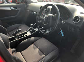 Audi A3, 2006 (56) Red Hatchback, Manual Diesel, 155,000 miles