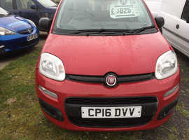 Fiat Panda pop 9310miles , 2016 (16) Red Hatchback, Manual Petrol, 9,310 miles