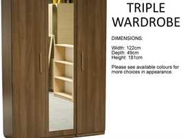 FACTORY ASSEMBLED WARDROBES (NON-FLAT PACK with COLOUR OPTIONS)