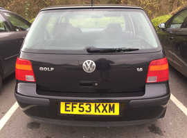 Volkswagen Golf, 2003 (53) Black Hatchback, Automatic Petrol, 110,000 miles