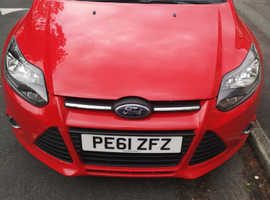 Ford Focus, 2011 (61) Red Hatchback, Manual Diesel, 75,000 miles