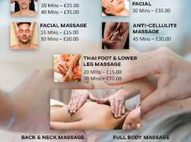 Mobile Massage for Peston, Leyland, Chorely and surrounding areas