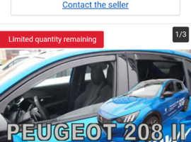 Wind deflector new Peugeot 208/Vauxhall Corsa