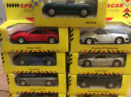 VINTAGE SHELL SPORTS CAR COLLECTION (x9 Boxed & unused)